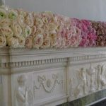 Lush,lavish las Vegas fireplace mantel flower garland .